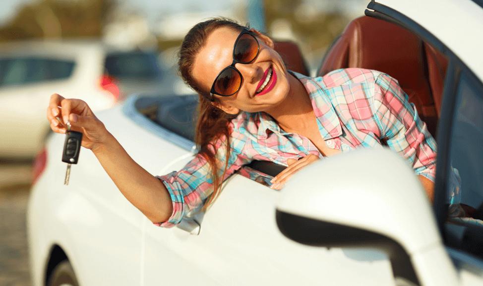 woman-used-car-keys